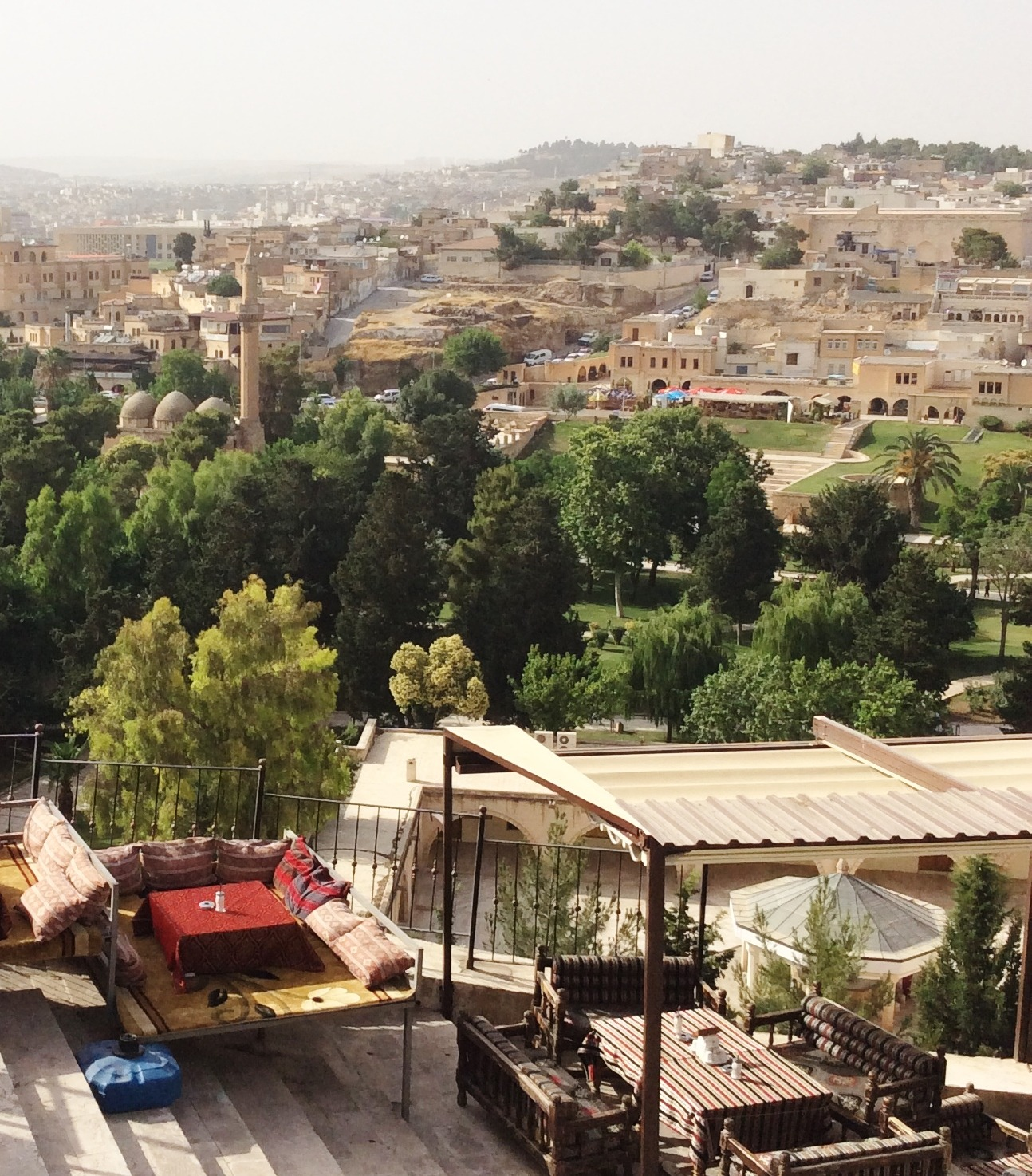The city of Urfa, northeast of Kobane on the Turkish side of the border.